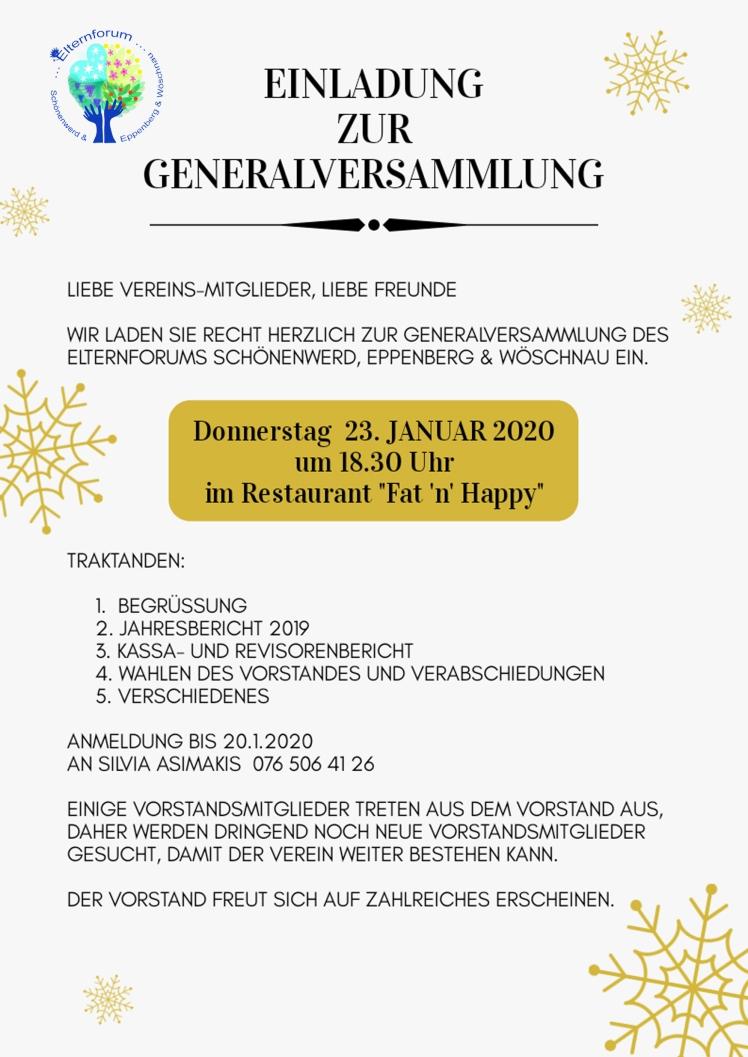 Einladung GV2020